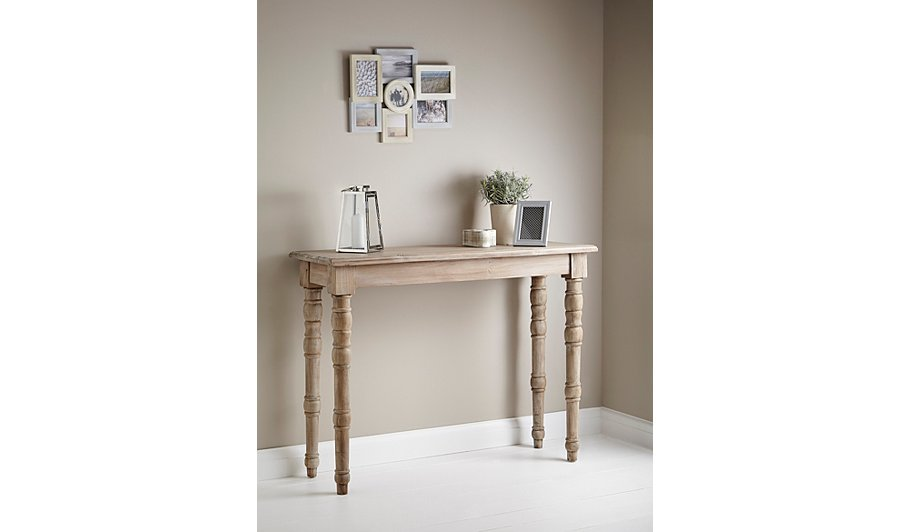 weathered pine console table coffee side tables. Black Bedroom Furniture Sets. Home Design Ideas