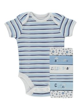 7 Pack Assorted Short Sleeve Bodysuits