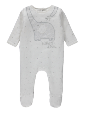 Elephant Padded Sleepsuit