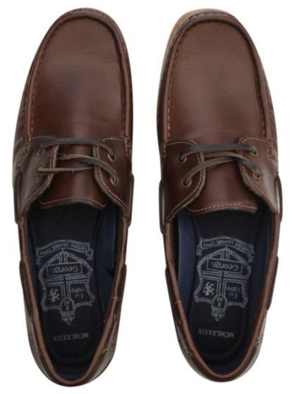 leather boat shoes george at asda
