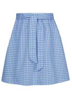belted gingham skirt blue school george at asda