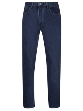 Straight Cut Dark Wash Jeans