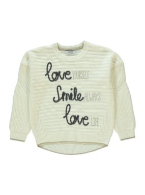 Love Smile Slogan Knit Jumper