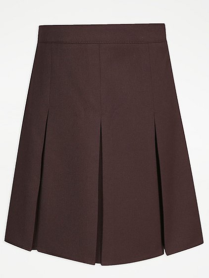 Brown Pleated Skirt - Skirts