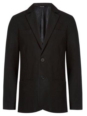 Boys School Slim Fit Blazer - Black