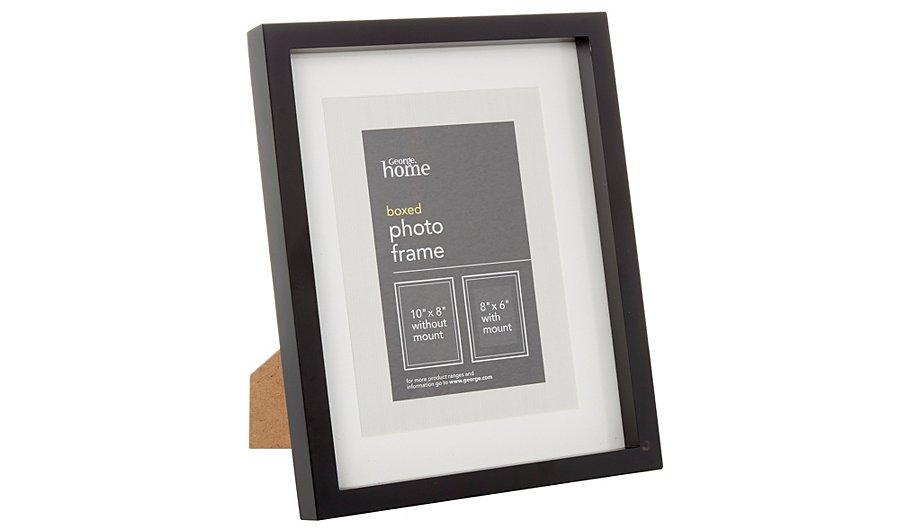 george home black boxed frame 8 x 6 inch home garden. Black Bedroom Furniture Sets. Home Design Ideas