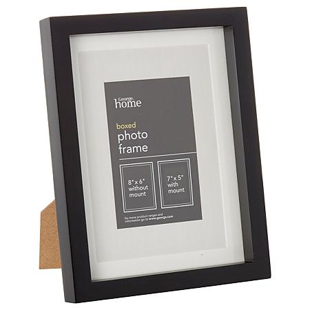 george home medium black boxed frame. Black Bedroom Furniture Sets. Home Design Ideas