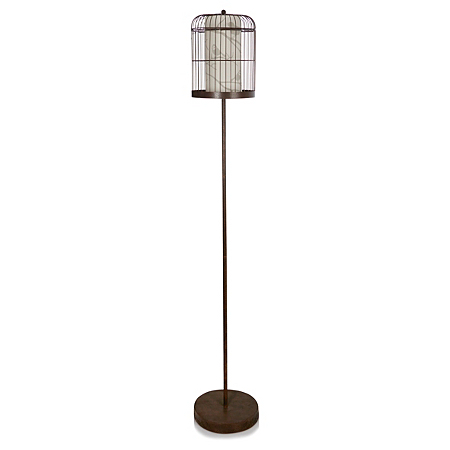 George home metallic birdcage floor lamp lighting asda for Floor lamp asda