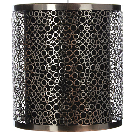 George Home Silver Metal Cut Out Light Shade Lighting Asda Direct