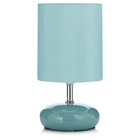 george home teal pebble table lamp lighting asda direct. Black Bedroom Furniture Sets. Home Design Ideas