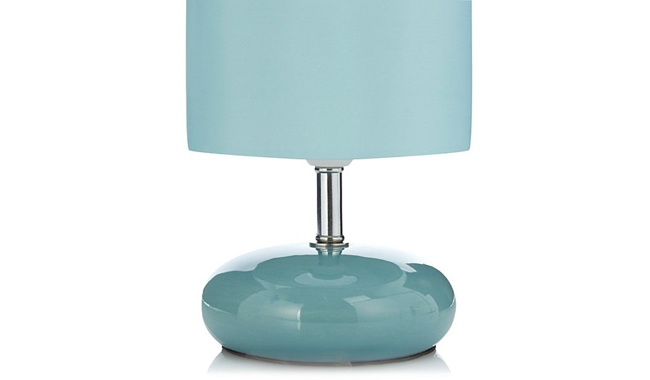 george home pebble table lamp teal lighting george. Black Bedroom Furniture Sets. Home Design Ideas