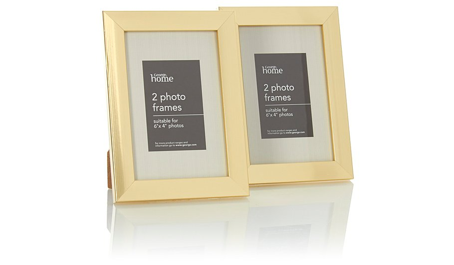 george home twin pack photo frame in 6 x 4 inch frames. Black Bedroom Furniture Sets. Home Design Ideas