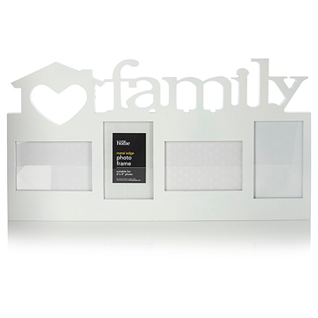george home white family photo frame frames albums. Black Bedroom Furniture Sets. Home Design Ideas
