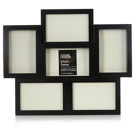 george home black curve multi photo frame frames. Black Bedroom Furniture Sets. Home Design Ideas