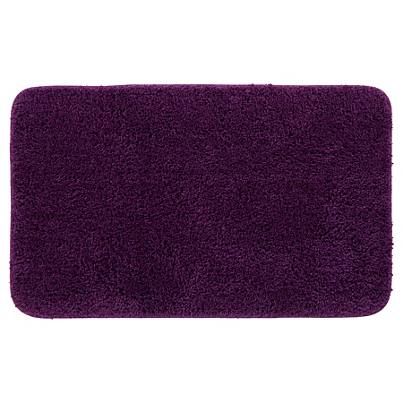 george home microfibre rubber backed bath mat plum. Black Bedroom Furniture Sets. Home Design Ideas