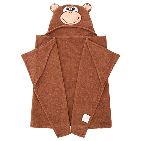 george baby monkey hooded towel baby towels asda direct. Black Bedroom Furniture Sets. Home Design Ideas