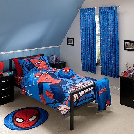 marvel spiderman bedroom range single beds george at asda