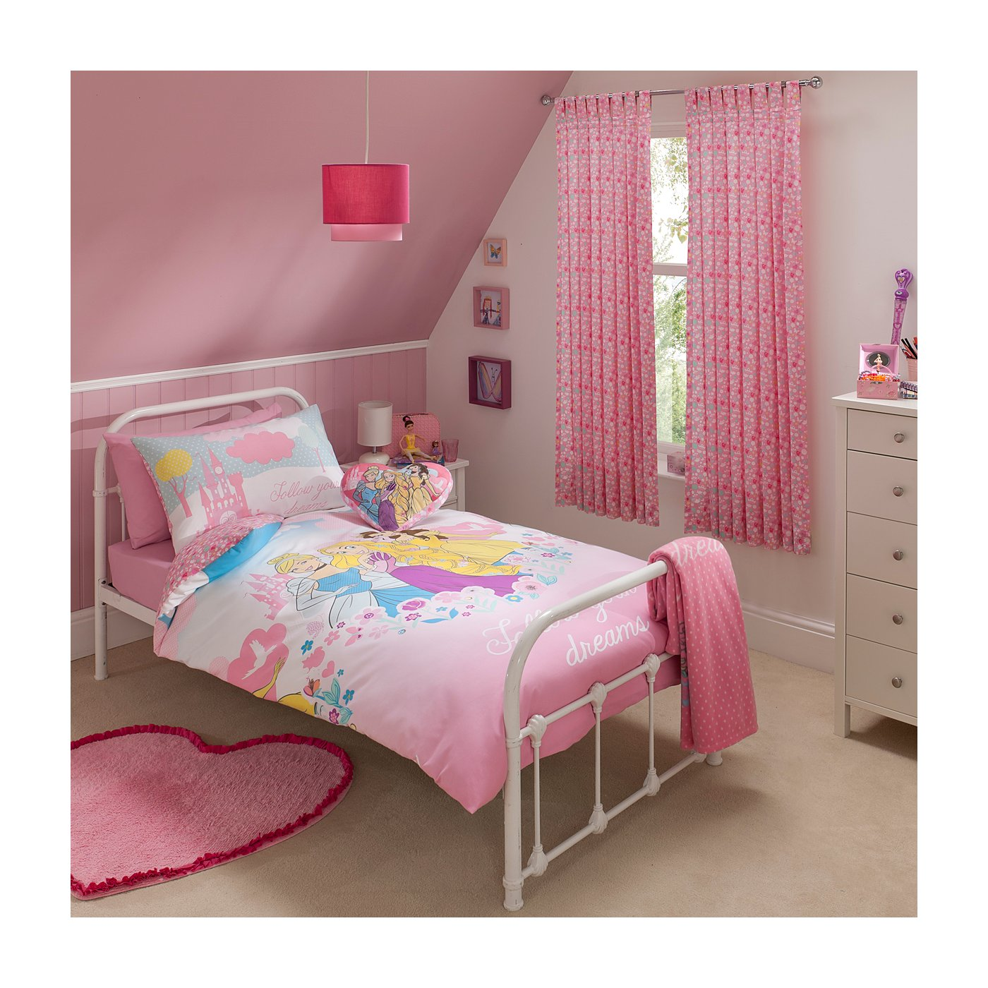 Princess Bedroom Disney Princess Bedroom Range Single Beds George At Asda