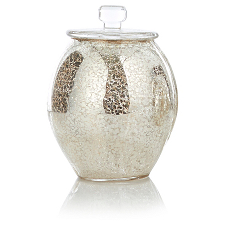 George Home Mercury Effect Glass Container Bathroom Accessories Asda Direct