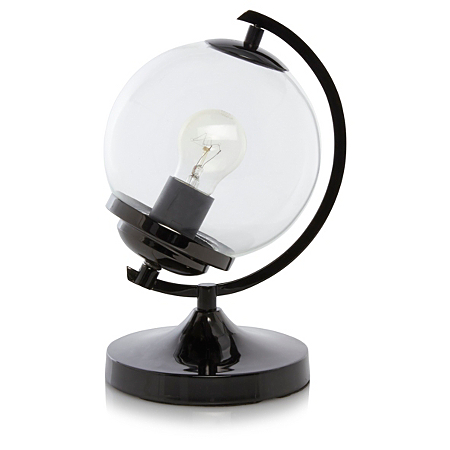 george home glass globe lamp lighting asda direct. Black Bedroom Furniture Sets. Home Design Ideas