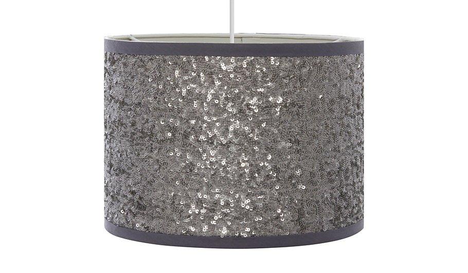 george home sequin light shade silver lighting george at asda. Black Bedroom Furniture Sets. Home Design Ideas