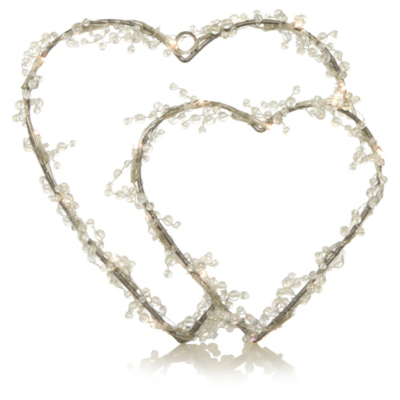 George Home Wire Double Heart Light