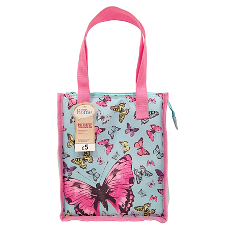 george home butterfly tote lunch bag kids dining asda. Black Bedroom Furniture Sets. Home Design Ideas