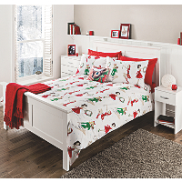 George Home Christmas Pin Ups Duvet Set Bedding George