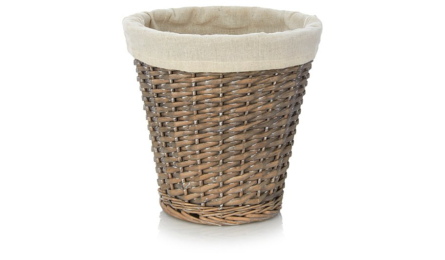 george home willow waste paper basket bins george at asda