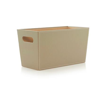 george home storage faux leather magazine rack storage. Black Bedroom Furniture Sets. Home Design Ideas