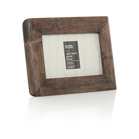 george home dark wood photo frame 6 x 4 inch frames. Black Bedroom Furniture Sets. Home Design Ideas