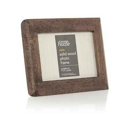 george home dark wood photo frame 7 x 5 inch frames. Black Bedroom Furniture Sets. Home Design Ideas