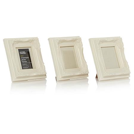 george home mini baroque photo frames 3 x 2 5 inch. Black Bedroom Furniture Sets. Home Design Ideas