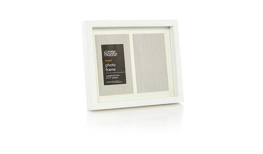 george home double boxed photo frame 6 x 4 inch frames. Black Bedroom Furniture Sets. Home Design Ideas