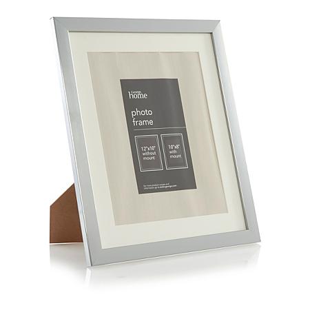 george home basic silver photo frame 10 x 8 inch. Black Bedroom Furniture Sets. Home Design Ideas
