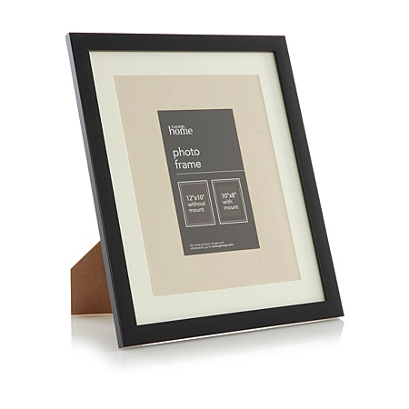 george home basic black photo frame 10 x 8 inch frames. Black Bedroom Furniture Sets. Home Design Ideas