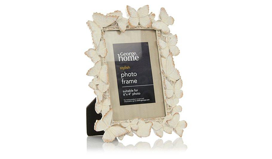 george home butterfly photo frame 6 x 4 inch frames. Black Bedroom Furniture Sets. Home Design Ideas