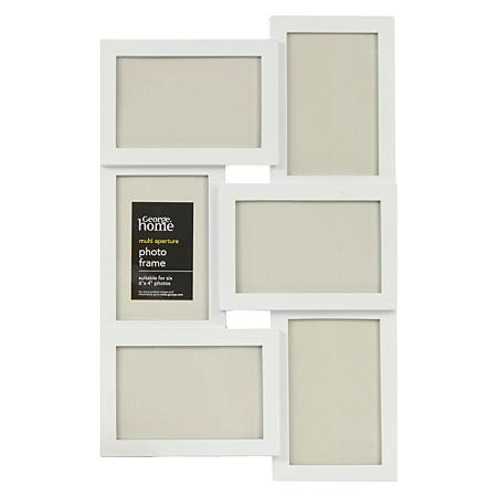 george home multi aperture photo frame 6 x 4 inch frames. Black Bedroom Furniture Sets. Home Design Ideas