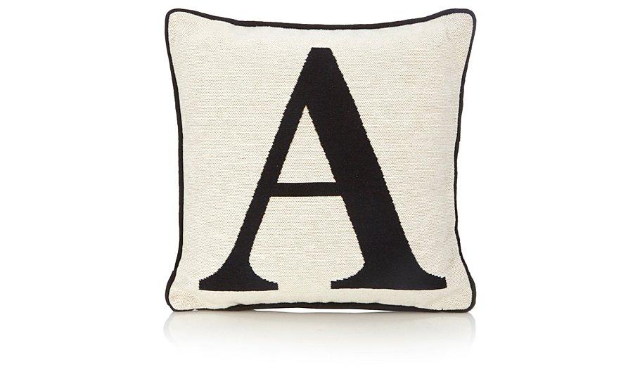 George Home Letter A Cushion 30x30cm Cushions George