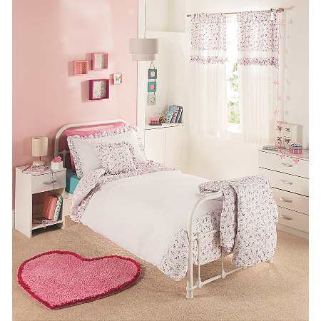 George Home Ruffle Cotton Duvet Set - Single   Bedding ...