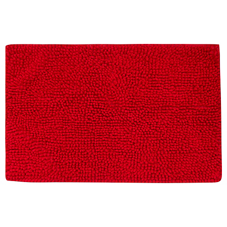 george home microfibre chenille bath mat cherry towels. Black Bedroom Furniture Sets. Home Design Ideas