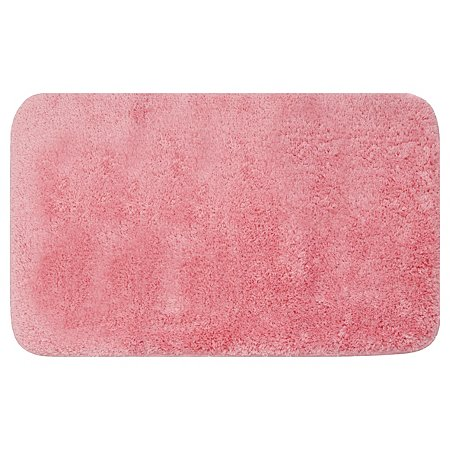 George Home Microfibre Rubber Backed Bath Mat Pink