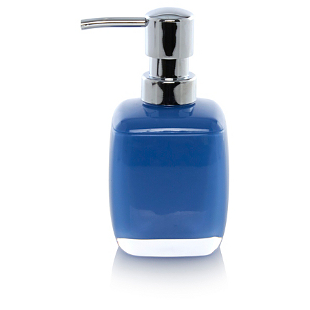 George Home Blue Acrylic Soap Dispenser Bathroom Accessories Asda Direct