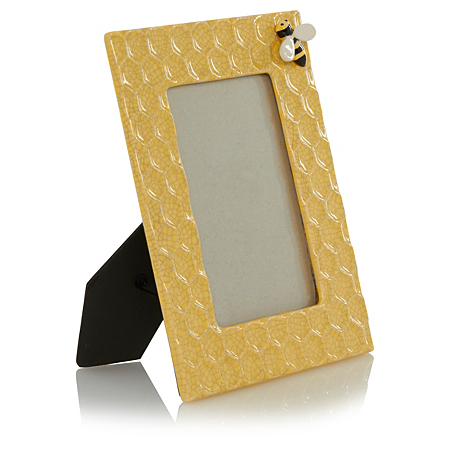 george home yellow ceramic honeycomb frame frames. Black Bedroom Furniture Sets. Home Design Ideas