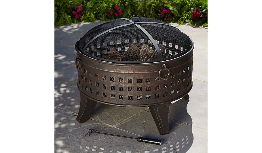 Asda 70cm Lattice Fire Pit & Log Burner