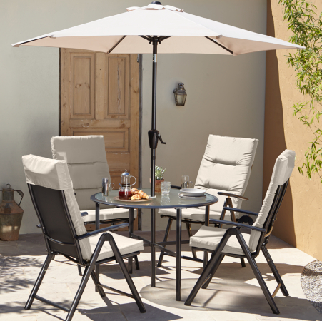 Reclinable Patio Recliner Patio Set in