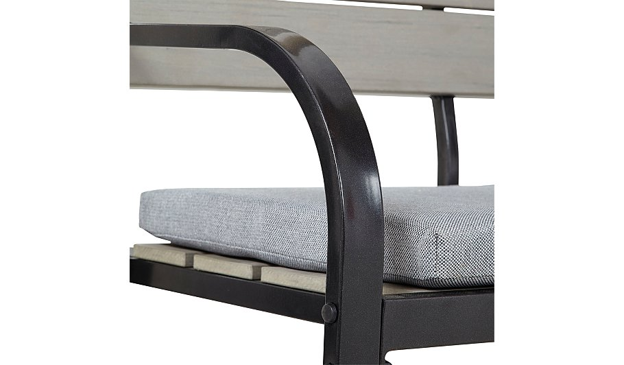 Haversham 2 Seat Classic Garden Bench Grey Garden