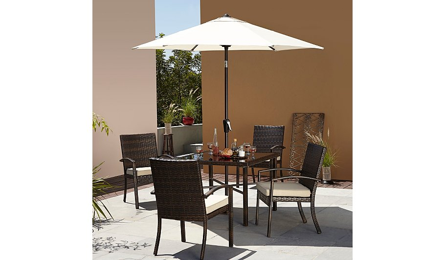 Jakarta 6 piece patio dining set garden furniture for Outdoor furniture jakarta