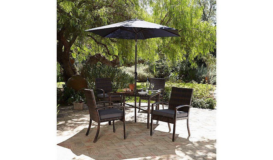 Jakarta 6 piece patio dining set charcoal garden for Outdoor furniture jakarta