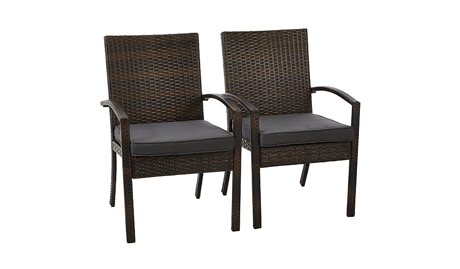 Jakarta 6 Piece Patio Dining Set Charcoal Grey Garden Furniture George At